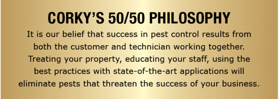 Corky's 50/50 Philosophy