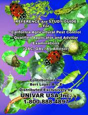 CALIFORNIA AGRICULTURAL PEST CONTROL EXAMINATIONS